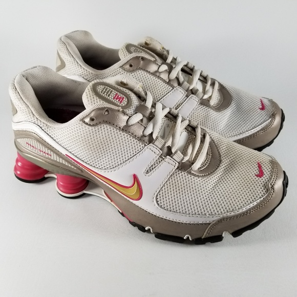 sale retailer 57f6e a8da9 Nike Shox Turbo V+ Women's Running Shoes 7.5 White